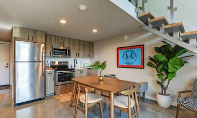 Kitchen, Avenue Lofts, 1