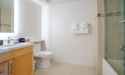 Bathroom, NMS Residential Santa Monica Apartments, 2