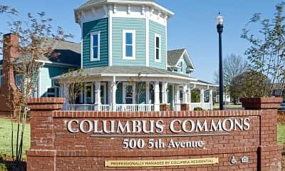 Community Signage, Columbus Commons, 1