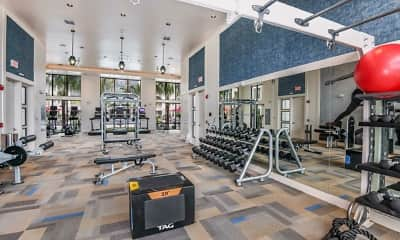 Fitness Weight Room, Coda Apartments, 1