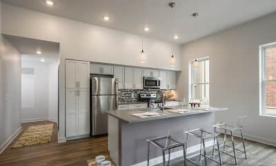 Kitchen, Clinton West Luxury Apartments, 1