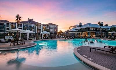 Pool, Southfork Lake Apartments, 1
