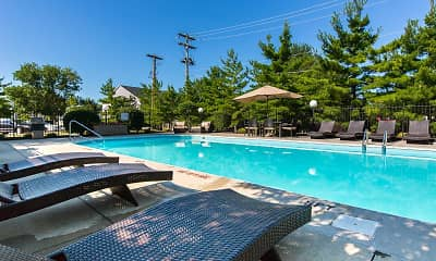 Pool, Hilliard Station Apartments, 2