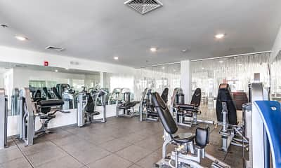 Fitness Weight Room, Elevation, 2