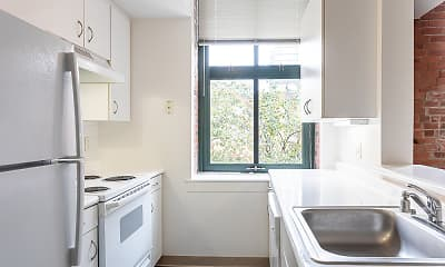 Kitchen, Ninth Square Apartments, 0