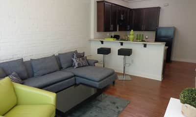 Living Room, Belt Line Townhomes and The Corona, 0