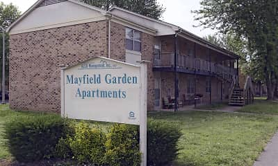 Community Signage, Mayfield Garden Apartments, 0