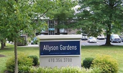 Community Signage, Allyson Gardens Apartments I, 0