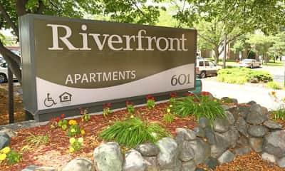 Community Signage, Riverfront Apartments, 2