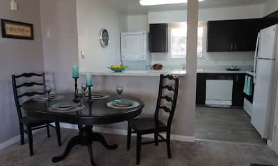 Dining Room, Reno Vista Apartments, 2