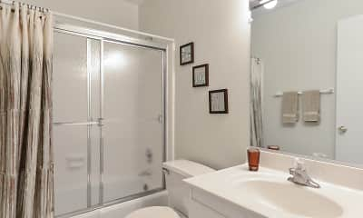 Bathroom, Pickwick Apartments, 1