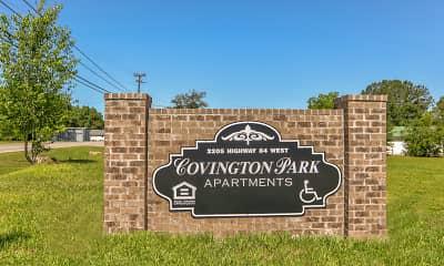Community Signage, Covington Park, 2