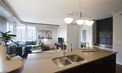 Kitchen, The Woodrow Apartments-Downtown Fargo, 0