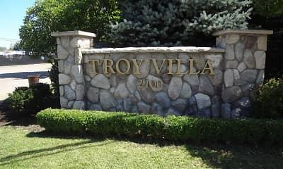 Community Signage, Troy Villa, 2