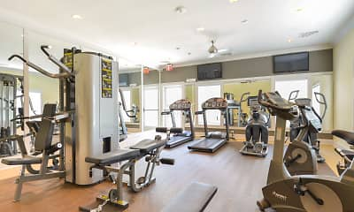 Fitness Weight Room, Barclay Glen Apartments, 2
