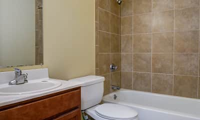 Bathroom, Bayberry Apartments, 2