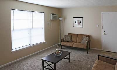 Living Room, Pegasus Place Apartments, 1