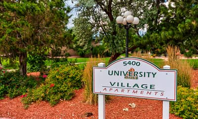 Community Signage, University Village, 2