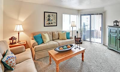 Living Room, Fox Creek Apartments, 0