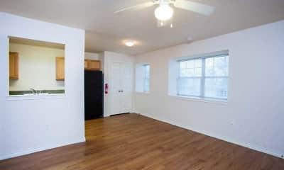 Living Room, Cunningham Manor Apts, 1