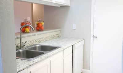 Kitchen, Garden Court Apartments, 2
