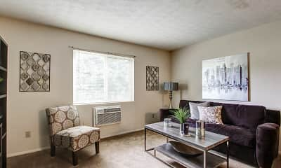 Living Room, Peppertree Apartments, 1