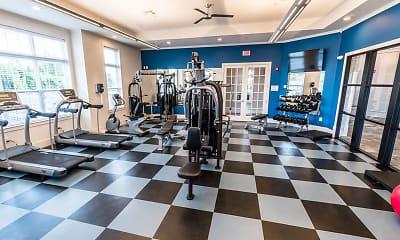Fitness Weight Room, Summerfield Lofts, 1