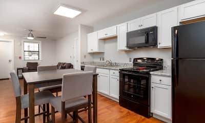 Kitchen, Spring Garden Station Student Apartments, 0