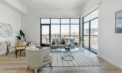 Living Room, Hana Apartments, 1