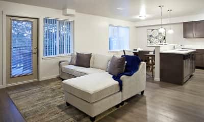 Living Room, Riverview Loft Apartments, 1
