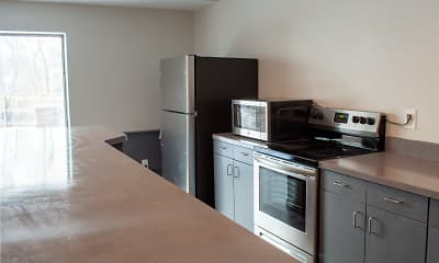 Kitchen, Grandview Pointe Apartments, 2