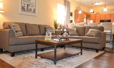 Living Room, Oak Manor Villas- Big Spring, 1