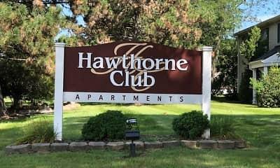 Community Signage, Hawthorne Club, 0