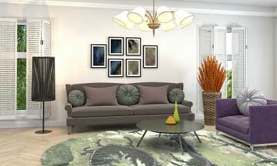 Living Room, Flats at Spring Mill Station, 2