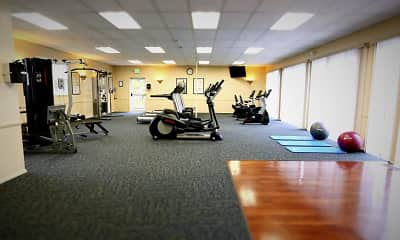 Fitness Weight Room, Woodridge Apartments, 2