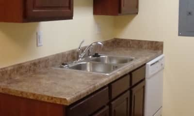 Kitchen, Woodland West Condominium Rentals, 2