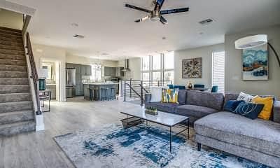 Living Room, Roosevelt Luxury Townhomes, 0