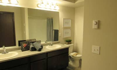 Bathroom, Blue Point Apartments, 2