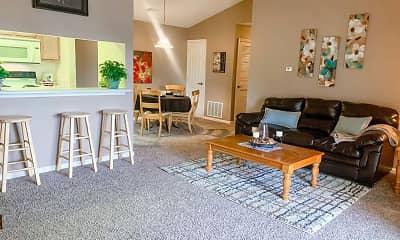 Living Room, Barton Farms Apartments And Duplexes, 1