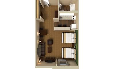 Furnished Studio - Dallas - Las Colinas - Meadow Creek Dr., 2