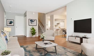 Living Room, Powdermill Village Apartments, 0