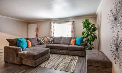 Living Room, Villas at Papago Apartments, 1