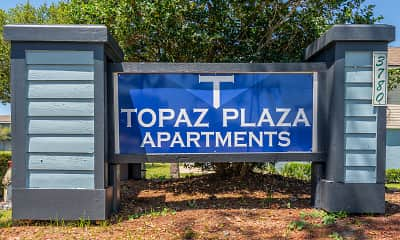 Community Signage, Topaz Plaza Apartments, 2