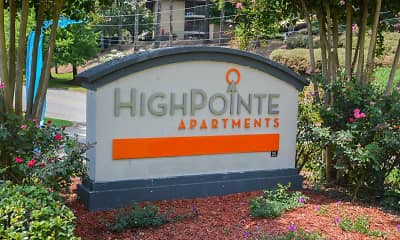Community Signage, High Pointe Apartments, 2