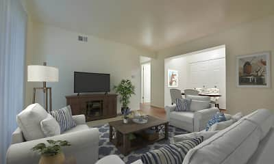 Living Room, Woodland Place Apartments, 0