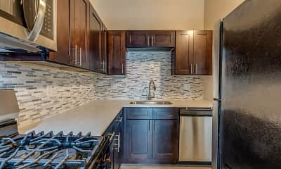 Kitchen, Crossings at Canton Apartments, 2
