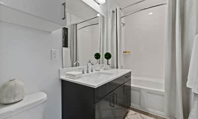 Bathroom, The Luxe at Mercer Crossing, 1
