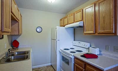 Kitchen, Oak Valley Apartments, 1