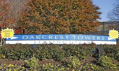 Community Signage, Oakcrest Towers, 0