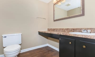 Bathroom, Ridgeside Apartments, 2